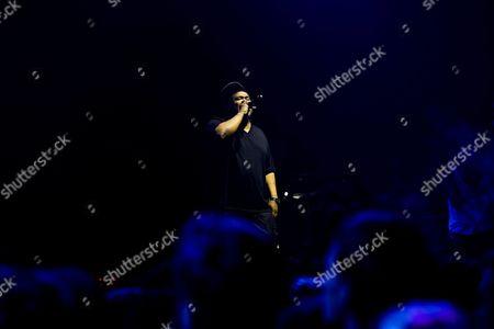David Jude Jolicoeur of Us Hip Hop Trio 'De La Soul' Performs During a Concert at Super Rock Festival in Lisbon Portugal 16 July 2016 the Festival Runs From 14 - 16 July 2016 Portugal Lisbon