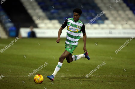 Shayon Harrison of Yeovil Town after the Checkatrade Trophy Match between Luton Town and Yeovil Town on 7 February at Kenilworth Road, Luton, Bedfordshire.  - PHOTO: Kieran Galvin/PPAUK