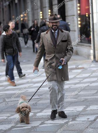 Stock Image of Alessandro Martorana with his dog Wisky