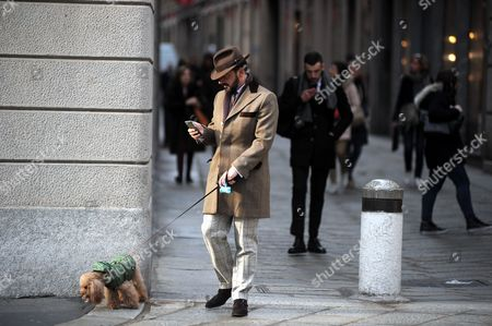 Stock Picture of Alessandro Martorana with his dog Wisky
