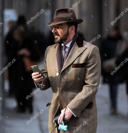 Editorial image of Alessandro Martorana out and about, Milan, Italy - 07 Feb 2017