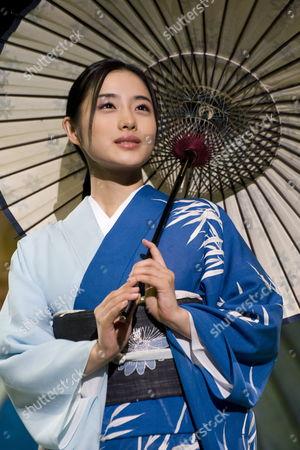 Leading Japanese Actress Satomi Ishihara Presents the Latest Kimono Designs by Legendary Kimono Fashion Designer Kyoko Koizumi During Her 'Embracing Japanese Beauty' Fashion Show in Tokyo Japan 05 November 2009 Koizumi Has Been Designing Innovative Kimono For Over Sixty Years
