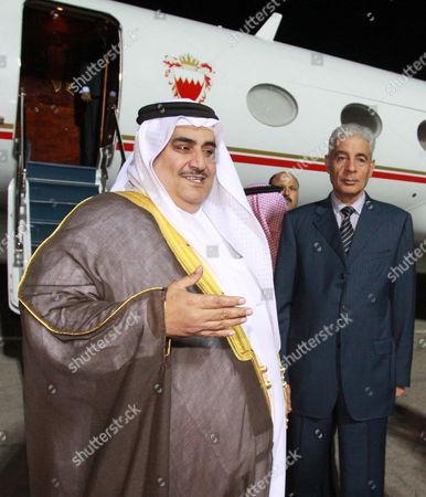 Minister For Foreign Affairs of Libya Musa Kusa (r) Meets with the Minister For Foreign Affairs of Bahrain Khalid Ahmed Al Khalifa in Tripoli Libya 04 November 2009
