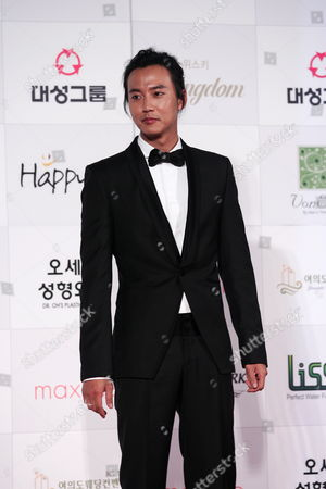 South Korean Actor Kim Nam-gil Who Appeared On the Screen 'Miindo' Arrives For the 46th Annual Daejong Film Awards at the Olympic Park in Seoul South Korea 06 November 2009