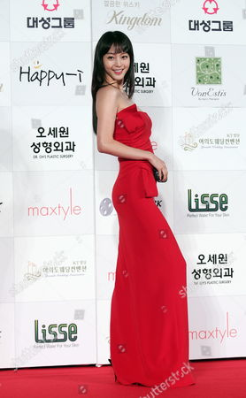 South Korean Actress Han Ye-seul Who Appeared On the Screen 'The War of Flower' Arrives For the 46th Annual Daejong Film Awards at the Olympic Park in Seoul South Korea 06 November 2009