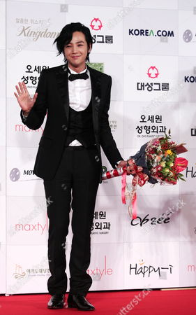 South Korean Actor Jang Keun-suk Who Appeared On the Screen 'The Case of Itaewon Homicide 2009' Arrives For the 46th Annual Daejong Film Awards at the Olympic Park in Seoul South Korea 06 November 2009