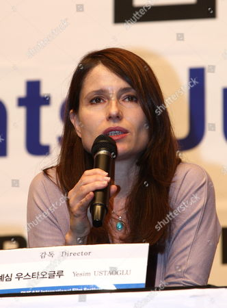 Stock Picture of Turkish Director Yesim Ustaoglu During the New Currents Jury Press Conference of the 14th Pusan International Film Festival in Busan South Korea 09 October 2009 the Biggest Film Festival in Asia Showcases 355 Films From 70 Countries From 08-16 October 2009 in Busan