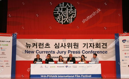 (l-r) Festival Director Kim Dong-ho Thai Director Pen-ek Ratanaruang Turkish Director Yesim Ustaoglu Jury Head Jean Jacques Beineix of France Taiwanese Actress Terri Kwan and South Korean Cinematographer Kim Hyung-koo During the New Currents Jury Press Conference of the 14th Pusan International Film Festival in Busan South Korea 09 October 2009 the Biggest Film Festival in Asia Showcases 355 Films From 70 Countries From 08-16 October 2009 in Busan