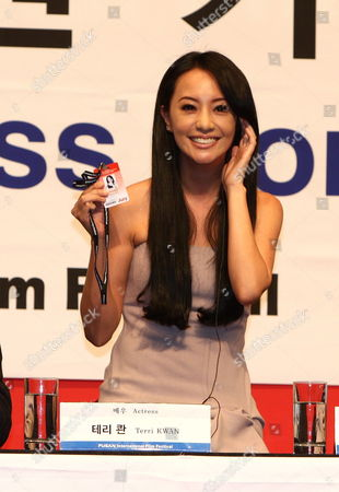 Stock Photo of Actress Terri Kwan of Taiwan During the New Currents Jury Press Conference of the 14th Pusan International Film Festival in Busan South Korea 09 October 2009 the Biggest Film Festival in Asia Showcases 355 Films From 70 Countries From 08-16 October 2009 in Busan