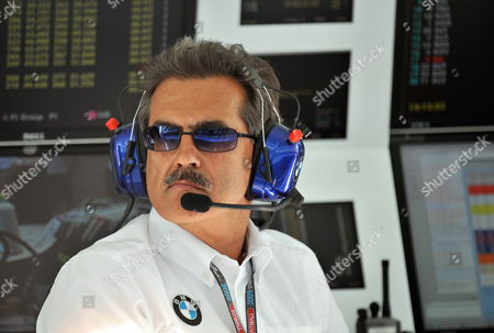 Stock Picture of Director of Bmw Sauber Motorsport Germany's Dr Mario Theissen Seen in Pit Lane During the Third Practice Session at Newly Built Racetrack Yas Marina Circuit in Abu Dhabi United Arab Emirates 31 October 2009 the Abu Dhabi Grand Prix Will Be Held On 01 November 2009