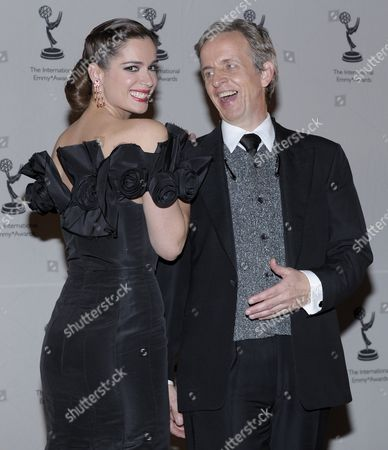 Actress Mar Saura (l) of Spain and Actor Robert Joy of the United States Poses For Photographers at the 37th International Emmy Awards in New York New York Usa On 23 November 2009