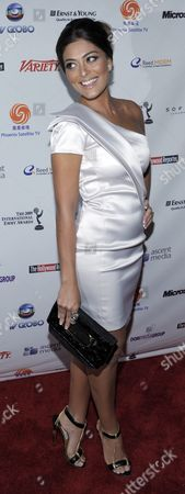 Actress Juliana Paes of Brazil Arrives For the 37th International Emmy Awards in New York New York Usa On 23 November 2009