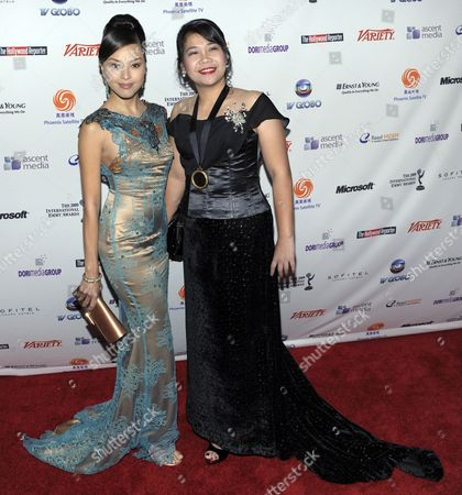 Actress Carmen Soo (l) and Lourdes D Tanwango Both of the Philippines and Nominated For Their Work On the Show 'A Time For Us' Arrive For the 37th International Emmy Awards in New York New York Usa On 23 November 2009