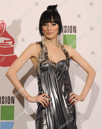 Presenter and Cuban Singer Cucu Diamantes Poses in the Press Room During the 10th Annual Latin Grammy Awards at Mandalay Bay Events Center in Las Vegas Nevada Usa 05 November 2009 the Latin Grammy Awards Honor Artistic and Technical Excellence in the Recording Arts and Sciences and Has Become the Height of Achievement in Latin Music Recording