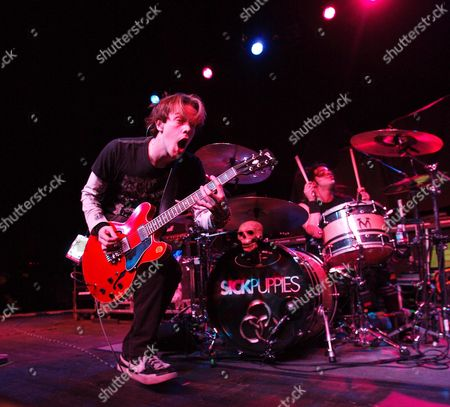 A Picture Dated 16 December 2009 Shows Vocalist and Guitarist Shimon Moore (l) and Drummer Mark Goodwin (r) of the Australian Rock Band Sick Puppies Performing in Concert at the Murat Egyptian Room in Indianapolis Indiana Usa