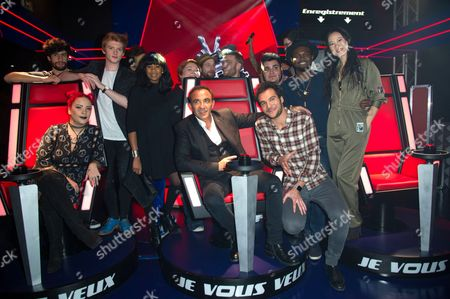 Editorial image of 'The Voice' TV show opening night, Grevin Museum, Paris, France - 07 Feb 2017