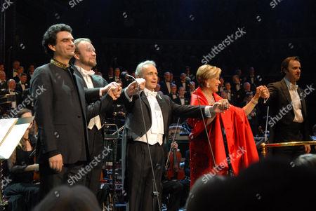 Rolando Villazon, Jose Carreras, Johan Reuter and Dame Kiri Te Kanawa