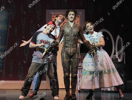 Stock Image of 'Edward Scissorhands' at the Sadler's Wells Theatre - Gavin Eden, Ross Carpenter, Matthew Malthouse and Etta Murfitt