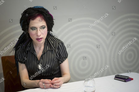Honorary Guest Finnish Author Sofi Oksanen Looks on During an Interview in the Gresham Palace at the 21st Budapest International Book Festival in Budapest Hungary 24 April 2014 the Event Runs From 24 to 27 April Hungary Budapest