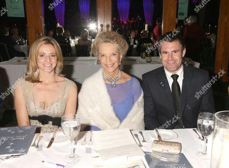 Gabby Logan, Princess Michael of Kent and Kenny Logan