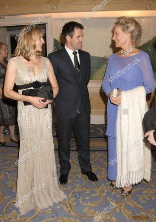 Gabby Logan with husband Kenny Logan and Princess Michael of Kent