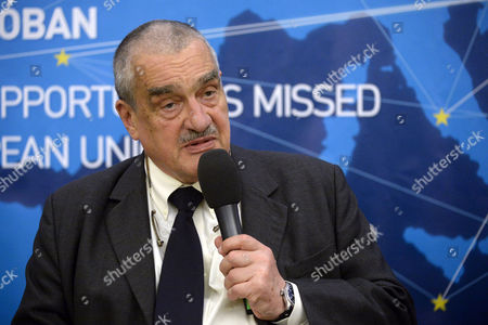 Former Czech Foreign Minister Karel Schwarzenberg Looks on During an International Conference Under the Title 'Opportunities Seized Opportunities Missed Ten Years in the European Union' Held to Mark the Tenth Anniversary of Hungary's Accession to the Eu in Budapest Hungary 28 April 2014 the Accession Treaty of Hungary Joining the Eu was Signed on 16 April 2003 Hungary Budapest