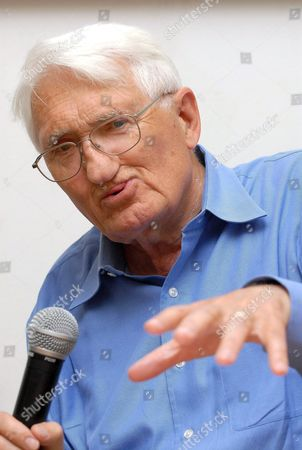 German Sociologist and Philosopher Juergen Habermas Gives a Lecture During an International Conference Under the Title 'Philosophy of Habermas' at the University of Pecs in Pecs 197 Kms South of Budapest Hungary 18 May 2009 Hungary Pecs