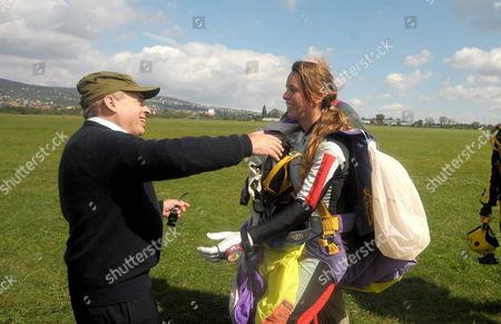 Former Soviet Political Prisoner Israeli Politician and Chairman of the Jewish Agency For Israel (sochnut) Natan Sharansky (l) Greets a 19-year-old Israeli Female Soldier After Her Parachute Jump in Memory of Hanna Szenes the Hungarian-born Israeli World War Ii Martyr in the Budaoers Airport in Budapest Hungary 02 September 2010 Born in Budapest Hanna Szenes a Poet was Trained in Palestine by the British Army to Parachute Into Yugoslavia During the Second World War in Order to Help Save the Hungarian Jews who Were About to Be Deported to the German Death Camp at Auschwitz in 1944 She was Captured at the Hungarian Border Imprisoned and Finally Executed by Hungarian Fascists in Budapest But She Refused to Reveal Details of Her Mission Hungary Budaeors