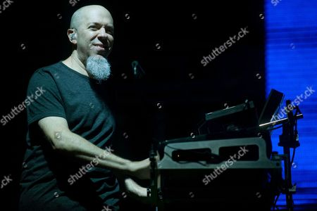 Keyboardist Jordan Rudess of Us Band Dream Theater Performs at the Fezen Festival in Szekesfehervar Hungary 04 August 2011 Hungary Szekesfehervar