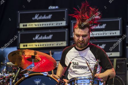 Josh Morgan Drummer of the English Rock Band the Subways Performs During the Concert at Fezen Festival in Szekesfehervar 63 Kms Southwest of Hungary 04 August 2016 the Festival Runs From 03 to 06 August Hungary Szekesfehervar