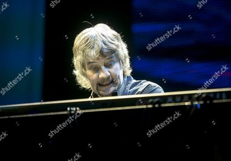 British Keyboarder Don Airey Performs During the Concert of the British Rock Band Deep Purple in Papp Laszlo Budapest Sports Arena in Budapest Hungary 17 February 2014 Hungary Budapest