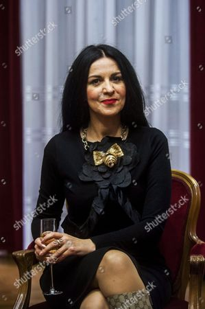 Romanian Soprano Angela Gheorghiu Attends a Press Conference at the Hungarian State Opera House in Budapest Hungary 13 February 2015 Gheorghiu Will Perform For the First Time in Front of the Hungarian Public During the Opera Ball in Budapest on 14 February Hungary Budapest