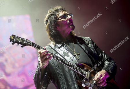 Guitarist Tony Iommi Performs During the Concert of the English Rock Band Black Sabbath in Papp Laszlo Budapest Sports Arena in Budapest Hungary 01 June 2016 the Hungarian Capital is Another Stop of the European Farewell Tour of the Legendary Band Hungary Budapest