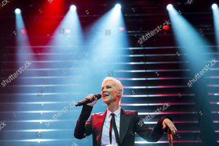 Marie Fredriksson of Swedish Pop-rock Band Roxette Performs on Stage in Papp Laszlo Budapest Sports Arena in Budapest Hungary 19 May 2015 Hungary Budapest