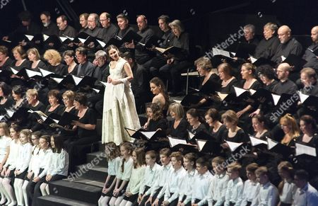 French Soprano Gabrielle Philiponet Sings with the Gyor Philharmonic Orchestra Performing the Concert Version of the Opera Othello by Giuseppe Verdi in Gyor Hungary 23 April 2016 the Production is Performed to Mark the 400th Anniversary of the Death of the English Playwright William Shakespeare Hungary Gyor