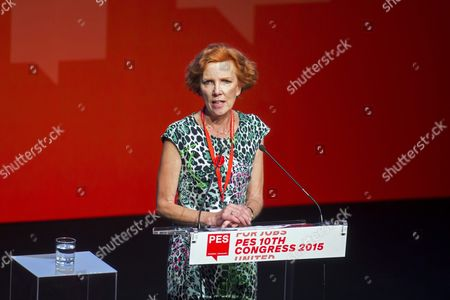 Pes Vice President Baroness Janet Royall Speaks During the 10th Congress of the Party of European Socialists Pes in the Budapest Convention Centre in Budapest Hungary 12 June 2015 Hungary Budapest