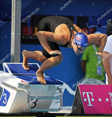 Joanne Jackson of Great Britain Leaps From the Starting Block During the Women's 200m Freestyle Preliminary Heat at the European Swimming Championships in Budapest Hungary 13 August 2010 Hungary Budapest