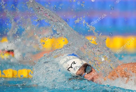 Sebastien Rouault of France Competes in the Men's 800m Freestyle Preliminary Heat at the European Swimming Championships in Budapest Hungary 12 August 2010 Hungary Budapest