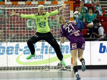 Editorial image of Hungary Women Handball Champions League - May 2014