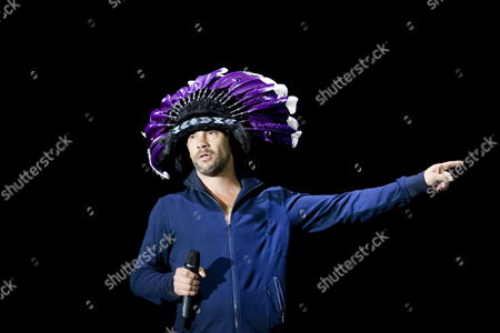 British Singer Jason Kay of the Band Jamiroquai Performs at the Exit Festival in Novi Sad Serbia 09 July 2011 the Festival Held in a Fort is One of Southeastern Europe's Largest Rock and Pop Music Events Serbia and Montenegro Novi Sad