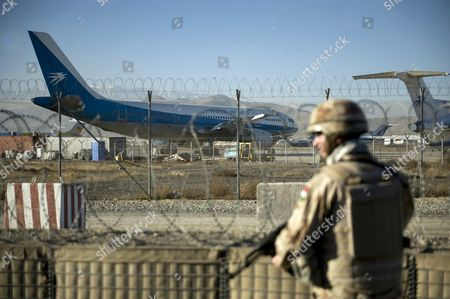 A Picture Made Available 01 December 2012 Shows a Hungarian Soldier Patrolling at the Airport in Kabul Afghanistan 30 November 2012 Meanwhile Afghanistan's Foreign Minister Zalmai Rassoul is Reported to Have Kicked Off Talks with His Pakistani Counterpart Hina Rabbani Khar on 30 November 2012 to Further Efforts Aimed at Reaching a Negotiated End to the Taliban Insurgency in Afghanistan Afghanistan Kabul