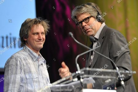 Us Writer Jonathan Franzen (r) Stands Next to Hungarian Writer Janos Hay (l) During the Opening of the 22nd Budapest International Book Festival at the Millenaris Theatre in Budapest Hungary 23 April 2015 Franzen Received the Budapest Grand Prix From the President of the Hungarian Publishers' and Booksellers' Association (mkke) During the Ceremony Hungary Budapest