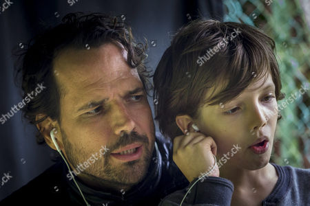 Stock Photo of A Made Available on 25 August 2014 Shows Hungarian Writer-director Benedek Fliegauf (l) and Cast Member Balint Sotonyi (r) who Plays Dani During the Shooting of 'Liliom Osveny' (lily Trail) in Budapest Hungary 23 August 2014 Fliegauf's New Movie Featuring the Story of a Mother and Son Facing Matters of Life and Death is Expected to Be Premiered in Spring 2015 Hungary Budapest