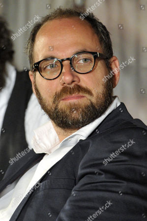 Hungarian Producer Gabor Sipos Attends a Press Conference on 'Son of Saul' in Budapest Hungary 28 May 2015 Tthe Movie Won the Grand Prix Award at the 68th Annual Cannes Film Festival in Cannes France on 24 May Hungary Budapest