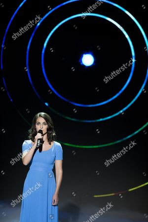 Stock Image of Hungarian Singer Boglarka Csemer Aka Boggie Performs in the Final to Win the National Qualification For the 60th Eurovision Song Contest in Budapest Hungary 28 February 2015 Boggie and Her Song Wars For Nothing was Selected From 351 Songs to Represent Hungary at the Eurovision Song Contest in Vienna Next May Hungary Budapest