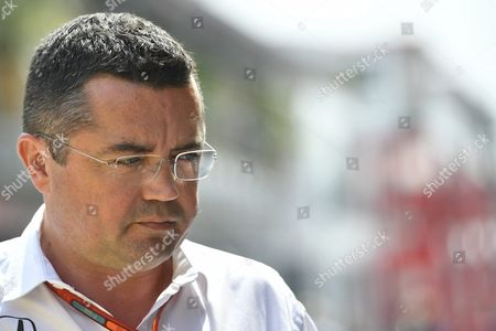 Eric Boullier Racing Director of the Mclaren Formula One Team is Seen in the Pit Prior to the Formula One Grand Prix of Hungary at the Hungaroring Circuit in Mogyorod North-east of Budapest Hungary 24 July 2016 Hungary Mogyorod
