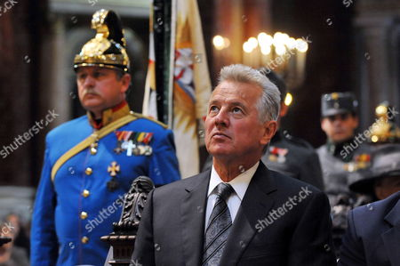 Hungarian President Pal Schmitt Attends the Funeral Mass For Otto Von Habsburg at the Saint Stephen Basilica in Budapest Hungary 17 July 2011 Otto Von Habsburg was the Head of the Habsburg Dynasty Son of the Latest Hungarian King Charles Iv the Last Emperor of Austria who Died at the Age of 98 on 04 July 2011 in His Home in Poecking Germany Otto Von Habsburg's and His Wife Regina's Body Were Buried in the Imperial Crypt Below the Capuchin Church on 16 July 2011 in Accordance with a Habsburg Tradition Otto Von Habsburg's Heart Urn Will Be Laid to Rest in the Benedictine Abbey of Pannonhalma Some 50km West of Budapest Hungary Later in the Day Epa/tamas Kovacs ***hungary Out*** Hungary Budapest
