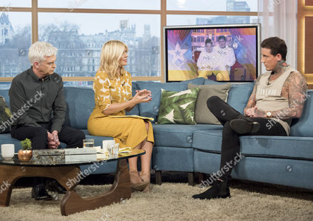 Phillip Schofield and Holly Willoughby with Jeremy McConnell