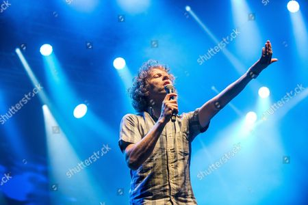 Us Singer Nic Offer Performs on Stage During the Concert of Us Band !!! (chk Chk Chk) on Shipyard Island the Venue of the 24th Sziget (island) Festival in Northern Budapest Hungary 13 August 2016 the Festival Which Runs From 10 to 17 August is One of the Biggest Cultural Events of Europe Offering Art Exhibitions Theatrical and Circus Performances and Above All Music Concerts in Eight Days More Than 1 500 Programs and Performers From Over 60 Countries Will Entertain the Expected 450 000 Visitors Representing 98 Countries of the World Hungary Budapest