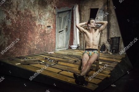 Hungarian Actor Tamas Keresztes Performs His Solo Piece During the Rehearsal of 'Diary of a Madman' by Nikolai Wassiljewitsch Gogol in Juranyi Production Community Incubator House in Budapest Hungary 23 September 2016 a Day Before the Premiere the Drama was Directed by Viktor Bodo of Hungary Hungary Budapest